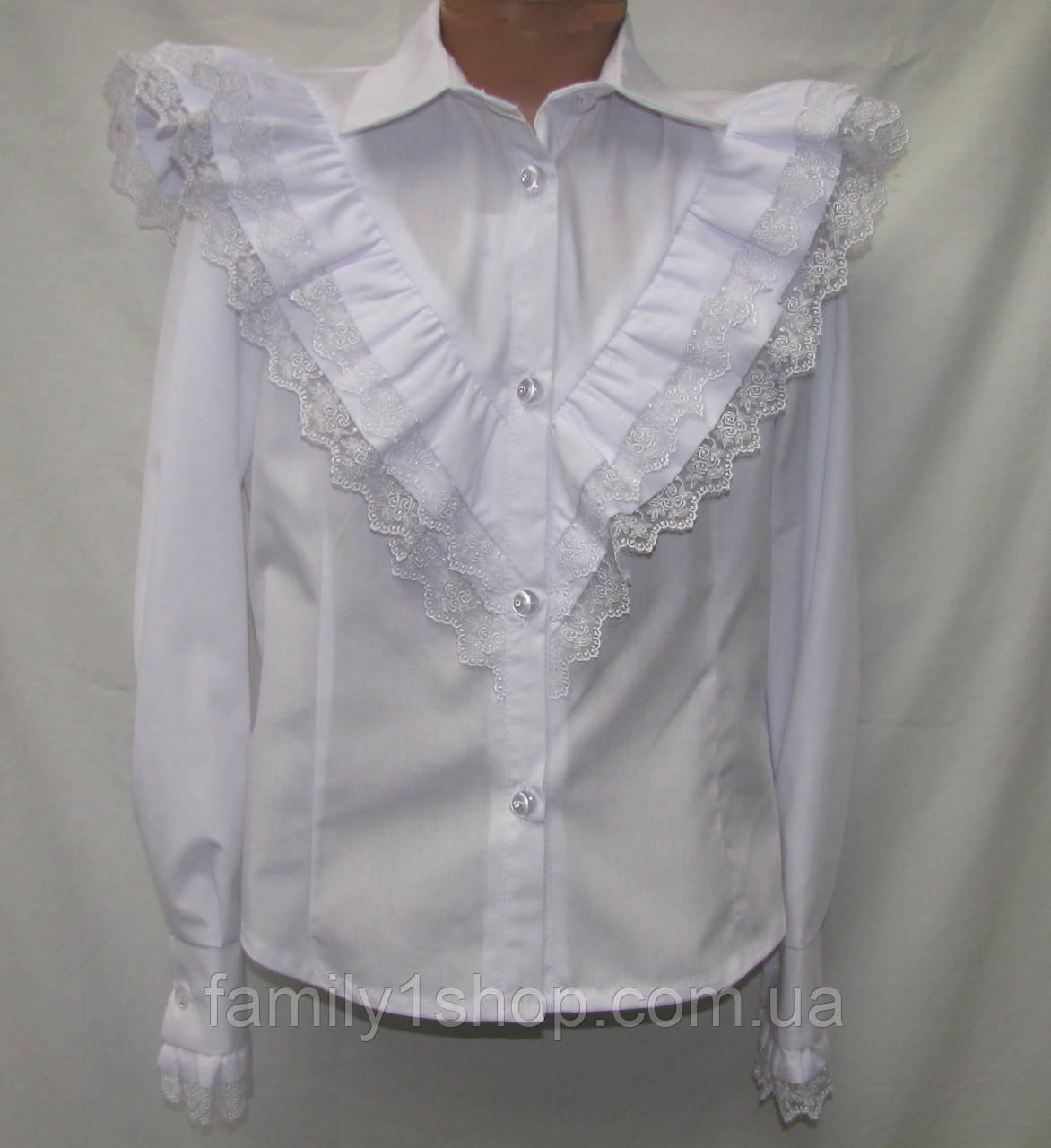 25ce86ec84a Школьная блузка для девочки с рюшами.  продажа
