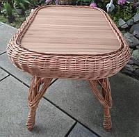 Кухонный плетеный стол кофейный из лозы