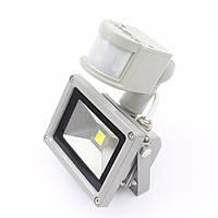 Прожектор с датчиком движения 10Вт 6500K IP65  серый LMPS14