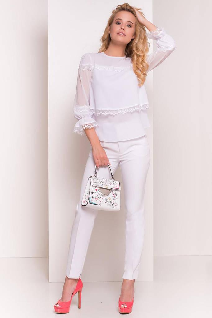 Летняя блуза женская, цвет: Белый, размер: S, M, L