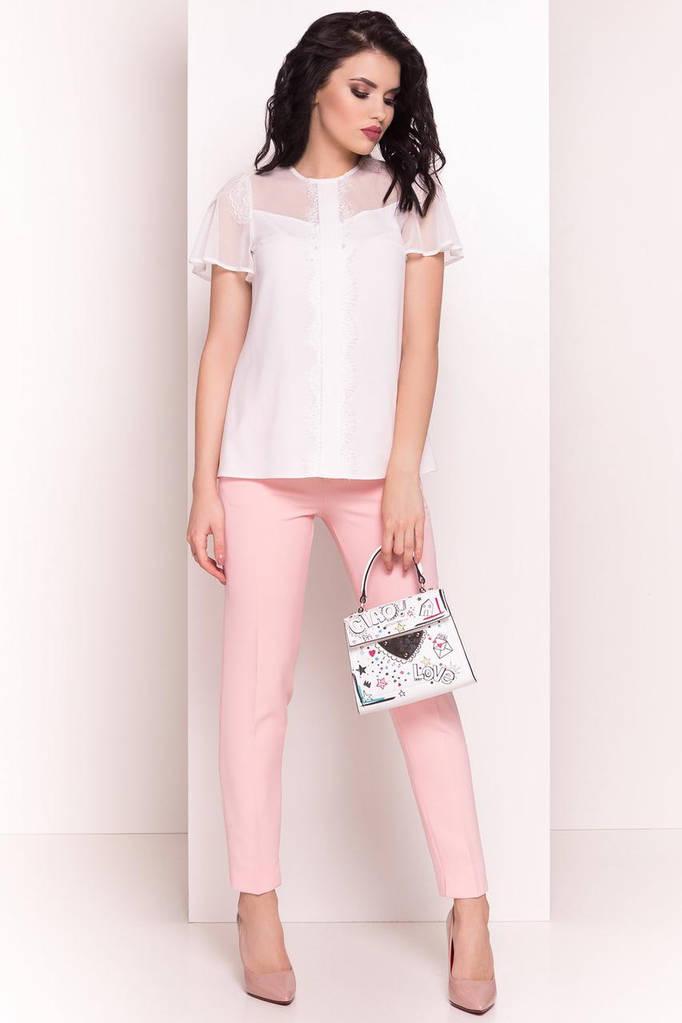 Летняя блуза женская, цвет: Молоко, размер: L, S, M