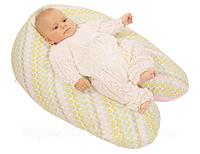 Подушка для беременных и кормления ребенка RIO WOMAR (чешуя полбы) 164 х 70 см , хлопок