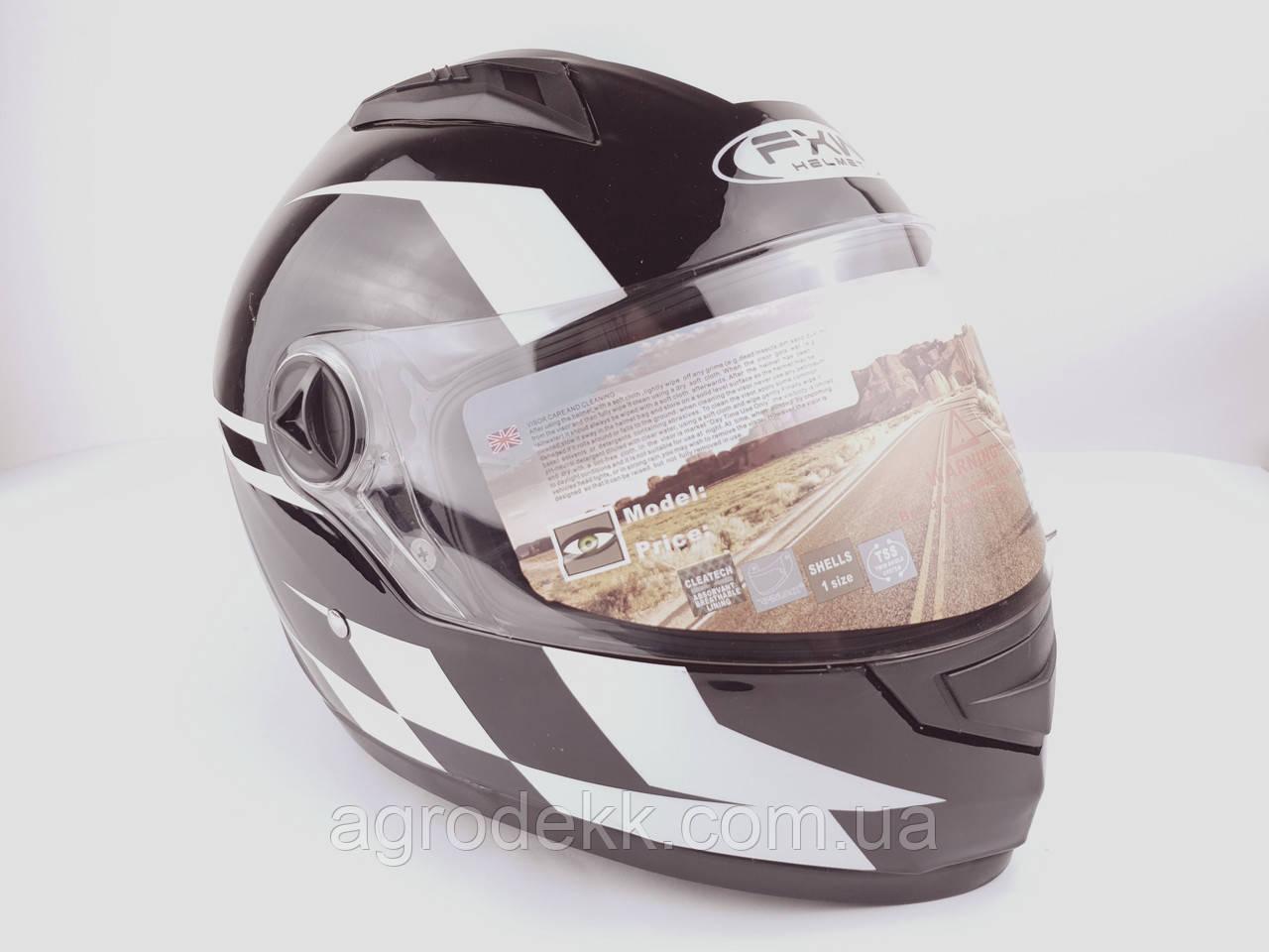 Шлем для мотоцикла Hel-Met 111 черный с полосой