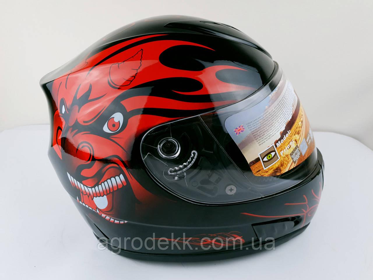 Шлем для мотоцикла Hel-Met 160 черный глянец