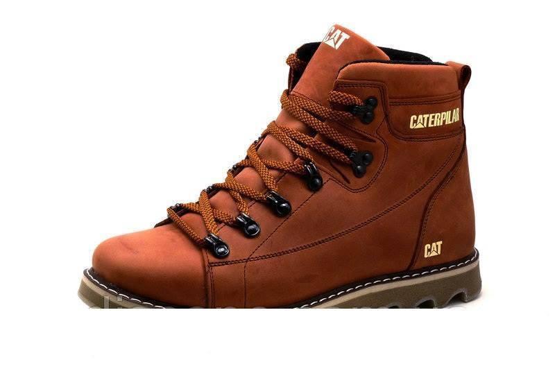 Мужские зимние кожаные ботинки CAT Expensive Fox 42