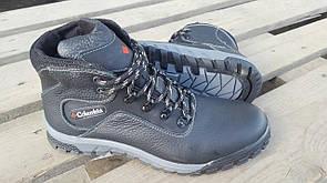 Мужские  зимние кожаные ботинки Columbia black 40