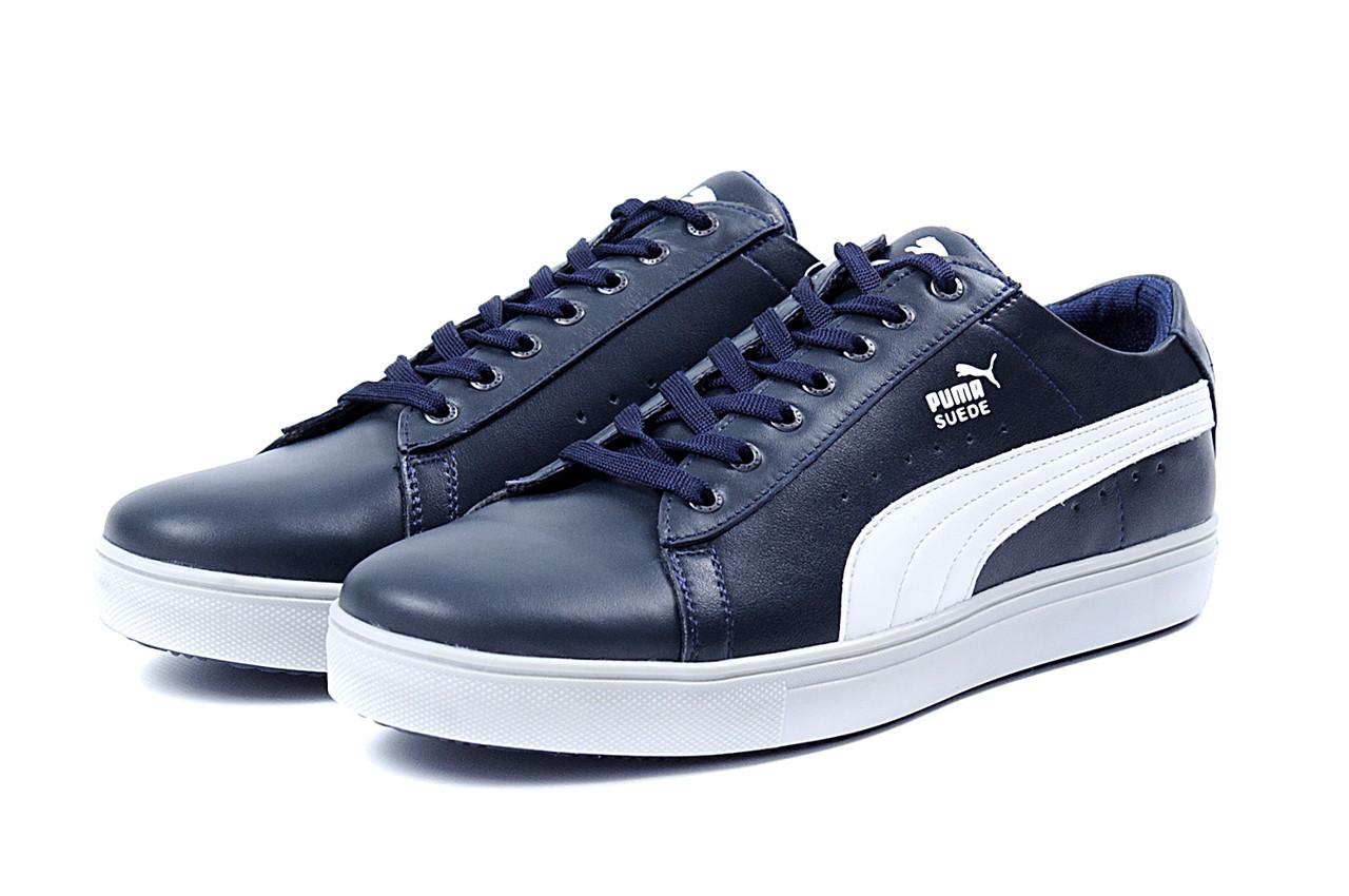 5973760b91f3 Мужские кожаные кеды Puma SUEDE Blue leather - MarketShoes -Обувь Для Всей  Семьи в Львове