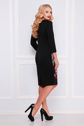 Платье женское с цветочным принтом больших размеров размер 2ХЛ, фото 2