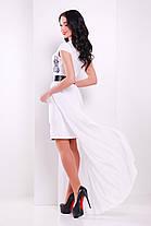 Платье женское нарядное белое со съемным шлейфом , фото 3