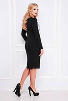 платье батальное черно-серое, фото 2