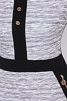 платье батальное черно-серое, фото 3