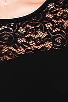 Красивое батальное платье с кружевными рукавами, фото 3