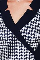 Платье батальное облегающее темно-синее, фото 3