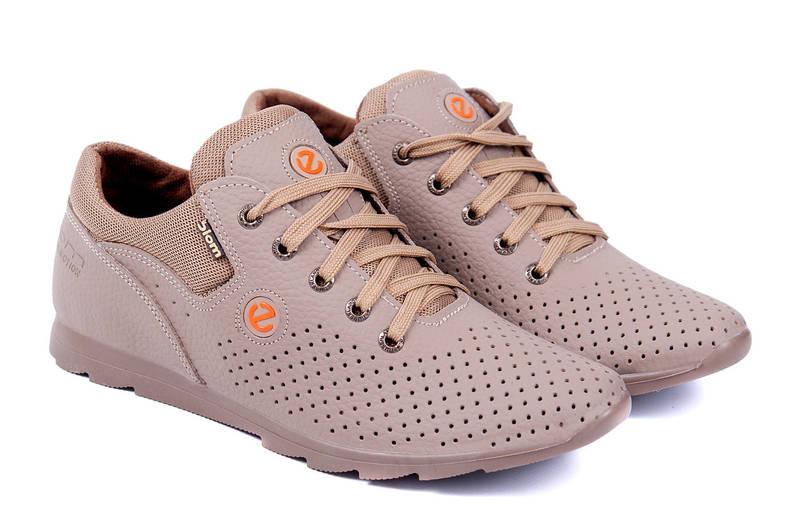 Мужские кожаные летние кроссовки Ecco Biom
