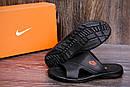 Мужские кожаные  летние шлепанцы-сланцы Nike , фото 7