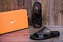 Мужские кожаные  летние шлепанцы-сланцы Nike , фото 8