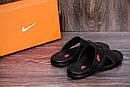 Мужские кожаные  летние шлепанцы-сланцы Nike , фото 9