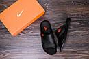 Мужские кожаные  летние шлепанцы-сланцы Nike , фото 10