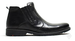 Мужские кожаные зимние ботинки  Bastion President black