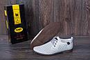 Мужские кожаные летние туфли, перфорация, KungFu grey, фото 6