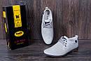 Мужские кожаные летние туфли, перфорация, KungFu grey, фото 8