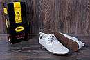 Мужские кожаные летние туфли, перфорация, KungFu grey, фото 10