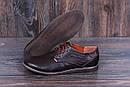 Мужские кожаные летние туфли  Levis Strauss Chocolate Area перфорация, фото 8