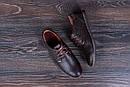 Мужские кожаные летние туфли  Levis Strauss Chocolate Area перфорация, фото 10