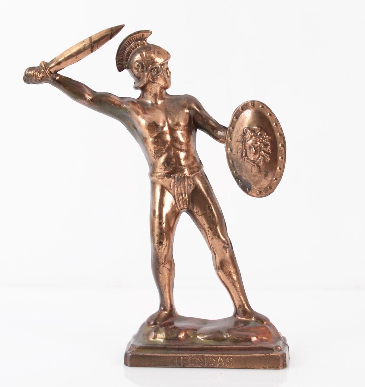 Коллекционная скульптура Leonidas, олово, бронзирован