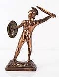 Коллекционная скульптура Leonidas, олово, бронзирован, фото 5