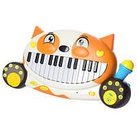 """Детская музыкальная игрушка пианино """"Кот"""" 8710D, 28 клавиш Royaltoys"""