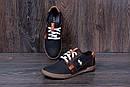 Мужские кожаные летние кроссовки, перфорация Polo black, фото 6