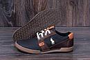 Мужские кожаные летние кроссовки, перфорация Polo black, фото 8