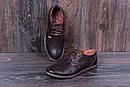 Мужские кожаные летние туфли  Levis Strauss Chocolate Area перфорация, фото 7