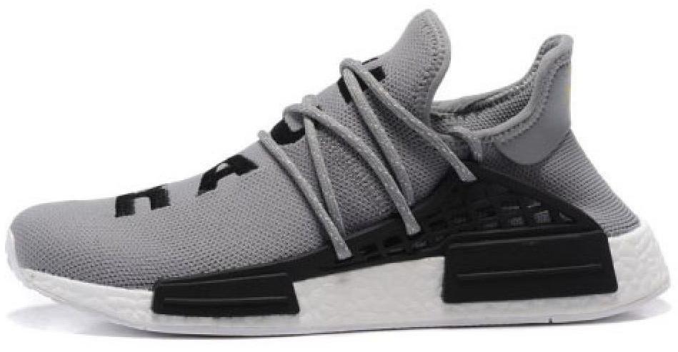 b0b401db Мужские кроссовки Adidas x Pharrell Williams Human Race NMD grey/black