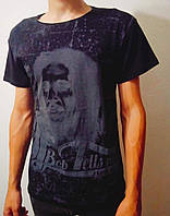 Летняя мужская футболка черная