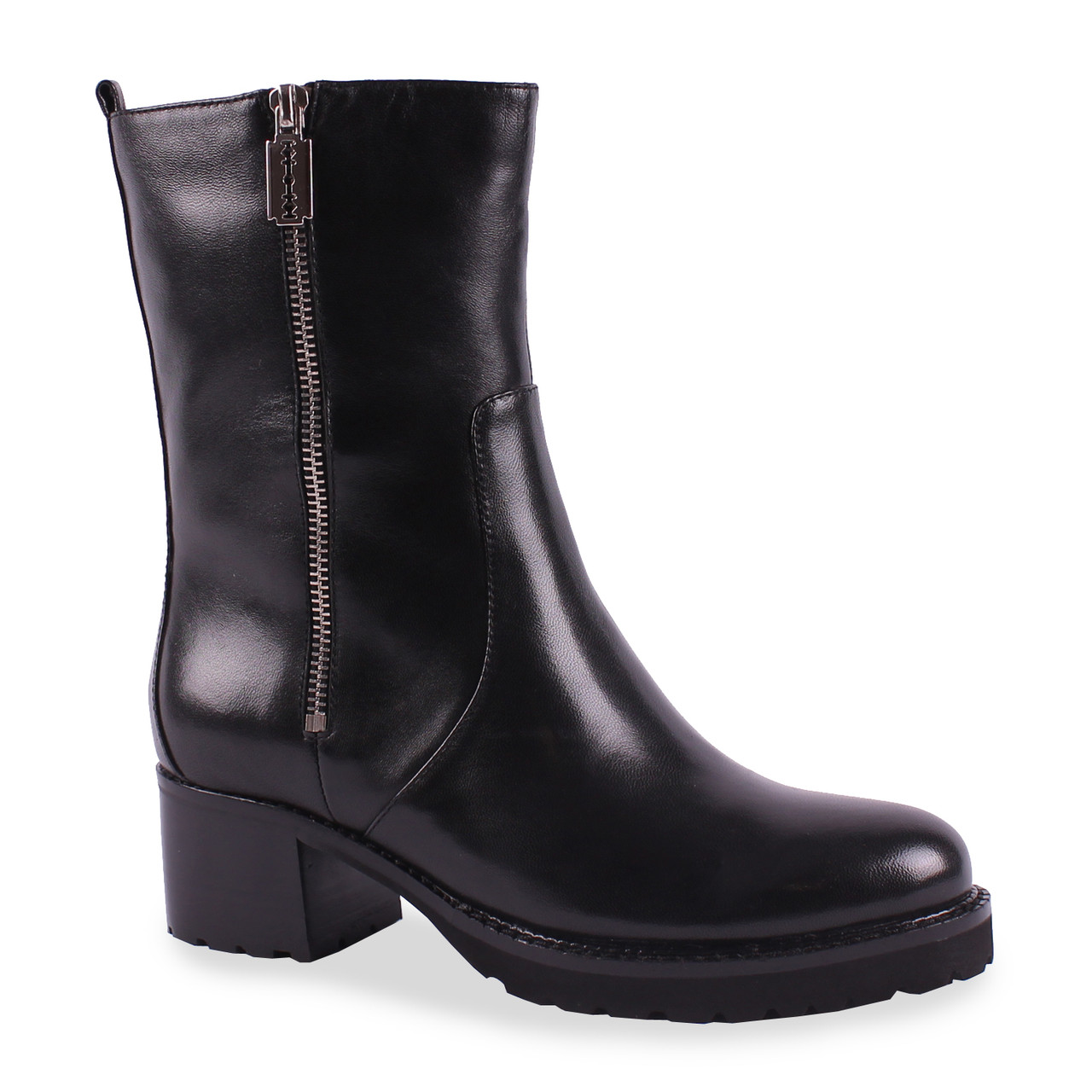 41b67fb38d10 Модные женские полу сапоги(кожаные, черные, зимние, на каблуке, удобные,