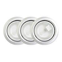 Комплект 3 галогенных светильника, 3х20W, алюминий