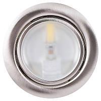 LED-светильник STANDART 220V, 2W, 4000K(Дневной свет), сатин-никель