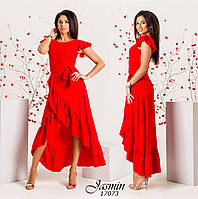 da159c44697c Платье с воланами удлиненное сзади р-ры от 42 до 50   5 цветов арт
