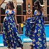 Летнее длинное пляжное платье с принтом  / 2 цвета арт 6002-535