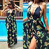 Летнее длинное пляжное платье с принтом  / 2 цвета арт 6002-535, фото 4