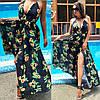 Летнее длинное пляжное платье с принтом  / 2 цвета арт 6002-535, фото 6