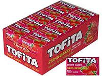 Жевательная конфета Tofita mini Клубника 20 гр. Kent