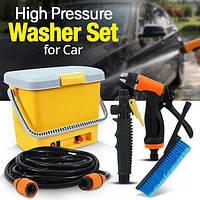 Портативная автомобильная мойка душ от прикуривателя High Pressure Portable Car Washer автомойка мойка авто, фото 1