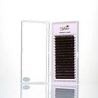 Ресницы Yelix шоколадного цвета C 0.07 микс (10-13мм)