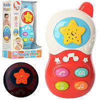 Телефон 60081 13,5 см, муз, звук, проектор ночного неба