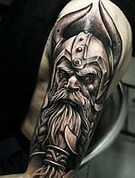 Мужская татуировка - воин.