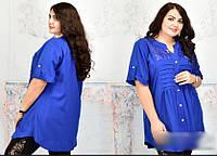 Блузка расклешенная на пуговицах, с 52-68 размер, фото 1