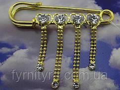 Украшение булавка декоративная 2593 золото, серебро